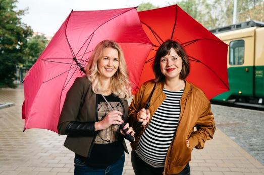Podcast, Norrena & Frantz. Kuvassa Hanna Norrena ja Eva Frantz